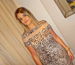 Meu Look: Vestido Animal Print para World Company